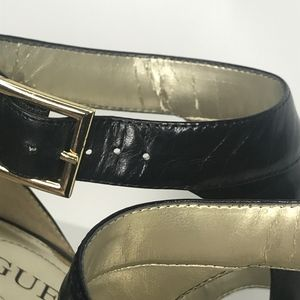 Guess by Marciano Shoes - Guess Marciano Apricot Black Leather Heels SH0583